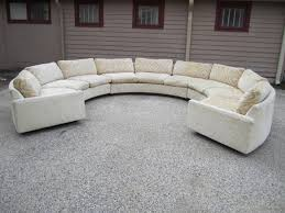 american spectacular three piece milo baughman circular sofa mid century modern curved for