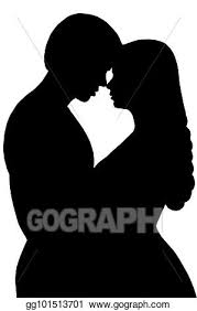 Stock Illustration Couple Kiss Silhouette Man And Woman Kissing