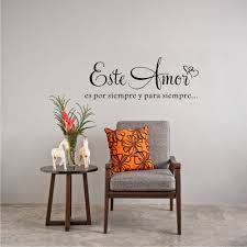this love is forever spanish quote personalized vinyl wall art sticker room wall decoration on custom vinyl wall art stickers with this love is forever spanish quote personalized vinyl wall art