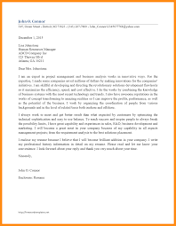 7 Sample Business Analyst Cover Letter Agenda Example