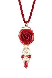 image of j tm italian carved red resin rose red agate 4