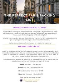 Packing Lists Complete Paris packing checklist | Sight Seeker's Delight