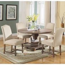 Round dining table set Counter Height Arielle Piece Round Dining Set Wayfair 54 Inch Round Dining Table Set Wayfair