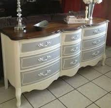 painting furniture ideas color. Painted French Provincial Dresser I Think Would Like It With The Colors Reversed.gray Dresser, Off White Drawers Painting Furniture Ideas Color D