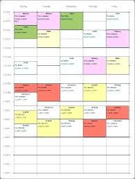 Class Schedule Excel Template Download Download Weekly Teacher Schedule Template Word Format College Class