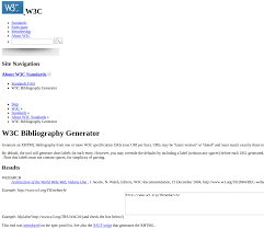 W3c Bibliography Generator Configuration Error From Patrick Durusau