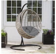 details about egg chair indoor outdoor wicker hanging patio swing cushion hammock chair stand