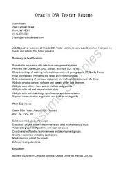 Database Testing Resumes Oracle Resume Sample Database Testing Resume Database Testing Resume