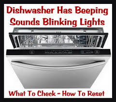 dishwasher blinks or beeps how to fix