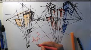 architecture drawing. Simple Architecture How To Draw With Three Point Perspective  Architecture Drawing Tutorials Throughout T