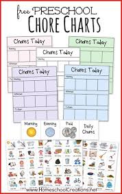 Task Charts For Preschoolers Free Preschool Chore Charts Subscriber Freebie