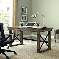 retro home office. Industrial Style Office Furniture Wood Desk Metal Laptop Retro Home Drawer Rustic Gray