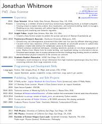 Example Cv Resume Simple 44 Sample Data Scientist Resumes PDF Word Sample Templates