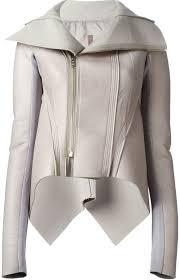 grey leather biker jackets rick owens lilies naska biker jacket
