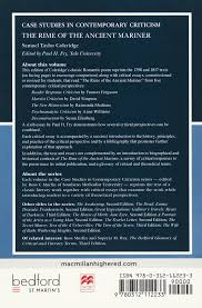 the rime of the ancient mariner case studies in contemporary the rime of the ancient mariner case studies in contemporary criticism samuel taylor coleridge paul h fry 9780312112233 com books