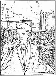 Small Picture Elvis Presley Coloring Pages Coloring Home