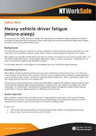 Light Vehicle Driver Duties And Responsibilities Safety Alert Heavy Vehicle Driver Fatigue Micro Sleep