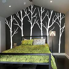 winter tree wall decals wall stickers living room wall decals six tree wall stickers