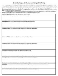 ap literature and composition essay intro checklist ap ap literature and composition prompt deconstruction scaffold