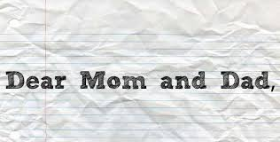 dear mom dad a letter from your something dear mom and dad picture