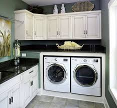 Interior:Seamless Laundry Room Idea With Concrete Cabinets And Wall Storage Laundry  Room Design Ideas