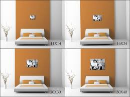 Illustrates How An 11X14, 16X24, 20X30 And 30X40 Would Look Over A King  Size Bed. By Captured Simplicity