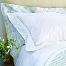 mint green gingham duvet cover