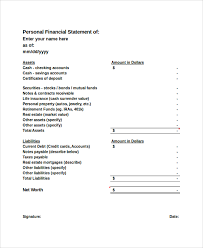 financial statement format sample personal financial statement 9 examples in pdf word excel
