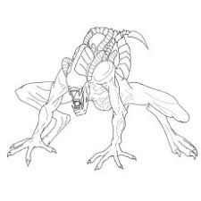 Small Picture Alien Xenomorph Coloring Pages For AdultsXenomorphPrintable