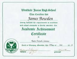 Principal Award Certificate 4 Awards And Certificates 2001 Present James Bowdens Blog