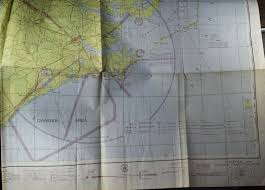 Virginia Aeronautical Chart 1946 Norfolk Virginia Sectional Aeronautical Chart Map