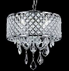 contemporary style pendant chandelier with crystal beaded drum shade material metal crystal finish chrome crystal clear