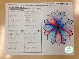 best algebra help ideas ratio and proportion  fun way to practice adding multiplying simplifying radical expressions algebra coloring activity