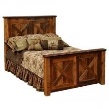 Barndoor Style Barnwood Bed