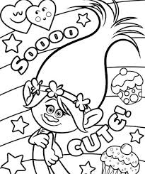 Trolls Free Coloring Pages At Getdrawingscom Free For Personal