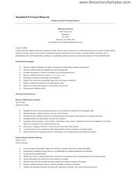 Sample Assistant Principal Resume Resume Sample Assistant Principal