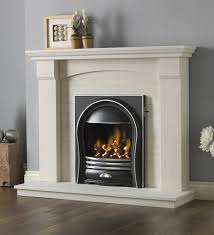 pureglow annabelle inset gas fire with kingsford limestone fireplace