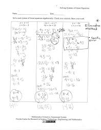 solving equations worksheet pdf beautiful solving systems th grade post variables medium size