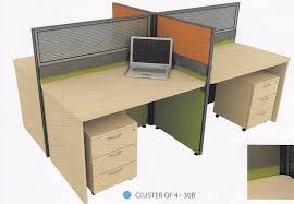 office tabel. Cluster Of 4 Pax Office Table Workstation Partition Model 30B Tabel