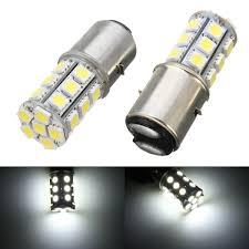 H6 Light Bulb 6000k 12v Ba20d H6 24 Led Smd Motorcycle Moped Atv Pit Headlight Bulb