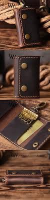 Handmade Leather Mens Cool Key Wallet Car Key Holder Car Key Case for Men