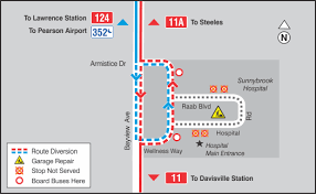 sunnybrook hospital construction <br >ttc detours start 3 11124354 garage 1704 gif