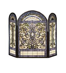 leaded glass fireplace screen beautiful made leaded beveled lead amazing stained designs with intriguing stained glass