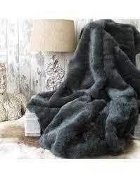 grey fur blanket large grey fur bed