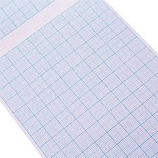 A4 Math Pad Graph Paper 2 10 20mm Square Grid 80 Page School Office Workbook