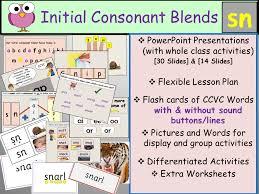Phonics: Phase 4 Consonant Blend Sn-CCVC Words, Presentations ...