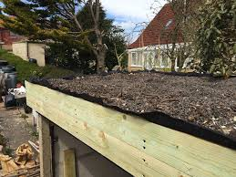 green roof with growing medium