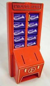 Mini Chocolate Vending Machine Delectable Cadury's Chocolate Machine Money Box Vintage Vending Machines