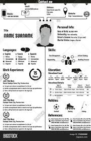Cv Curriculum Vitae Resume Template Infographic Modern Image