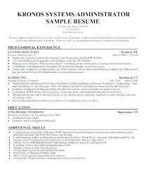 Linux Administrator Resume Sample Simple Resume Format